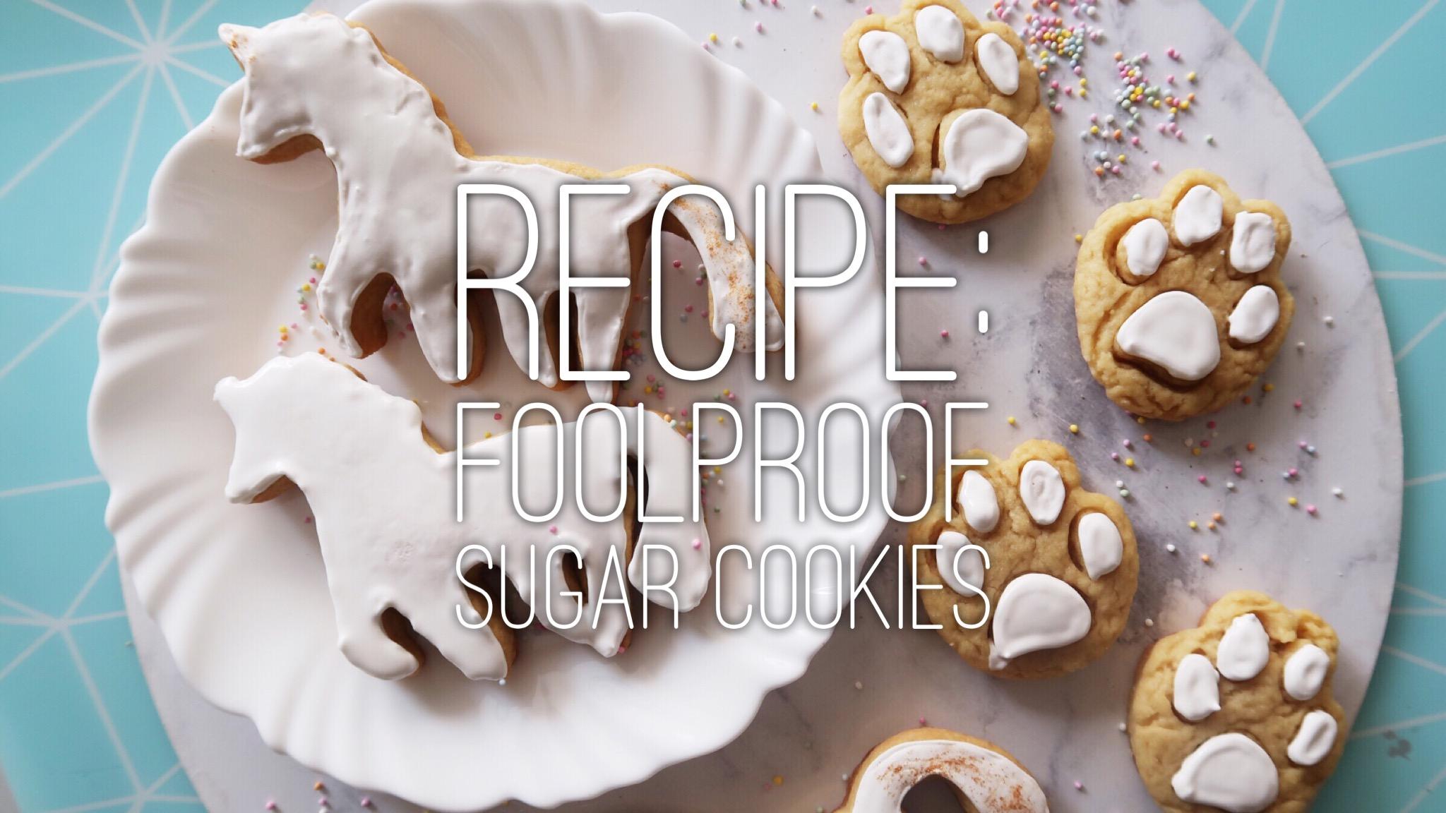 Recipe: Foolproof Sugar Cookies (unicorn-shaped!)